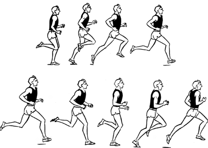 Бег на короткие дистанции в картинках