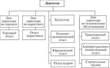 Схема организационной структуры предприятия торговли фото 887
